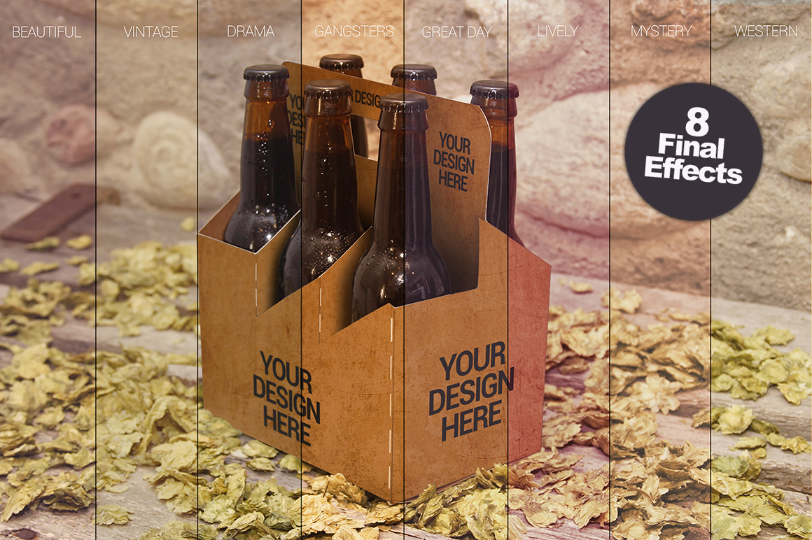 6 Pack Beer Mockup example image 6