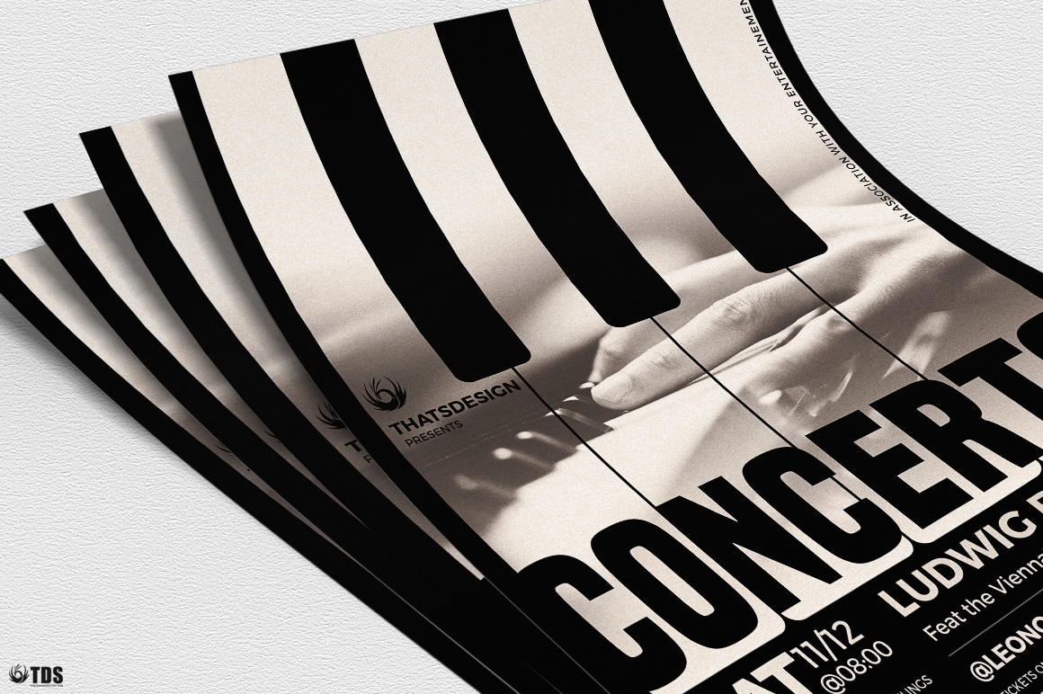 Piano Concerto Flyer Template V1 example image 5