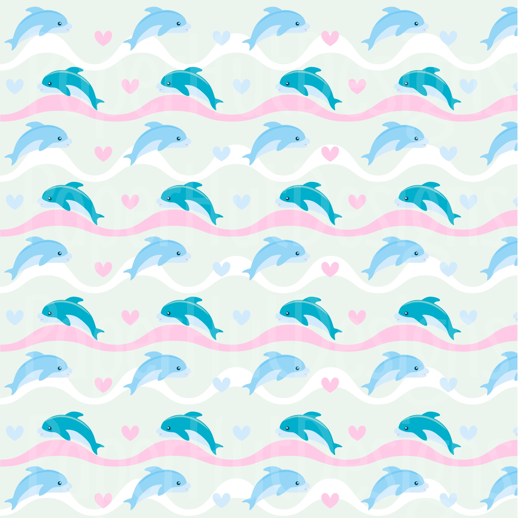 Girls Sea Animal Clipart and Digital Papers Set example image 4