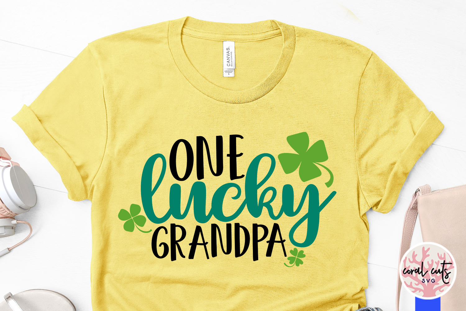 One lucky grandpa - St. Patrick's Day SVG EPS DXF PNG example image 3