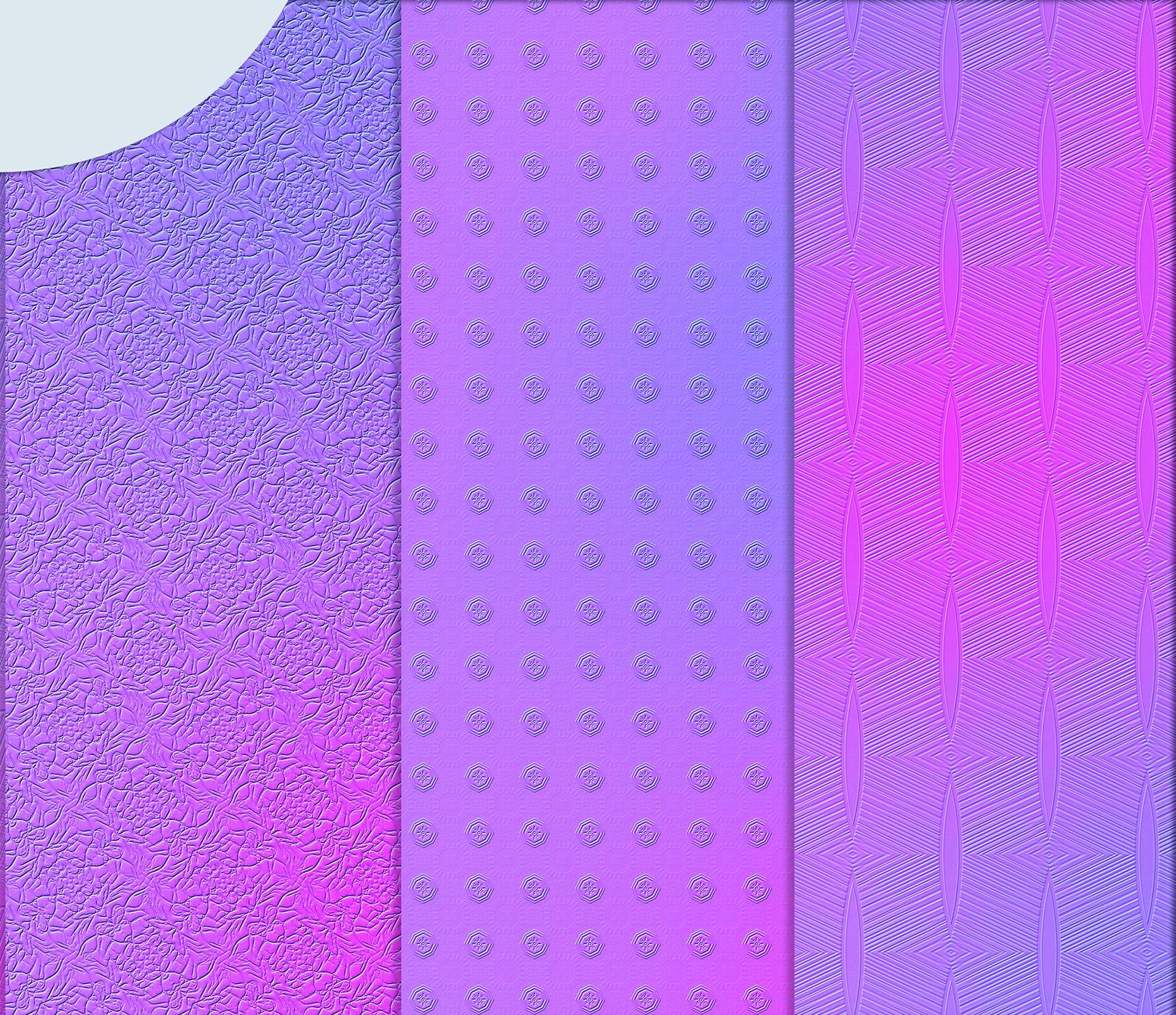 Purple-blue abstract textures, Digital Scrapbook Paper example image 4
