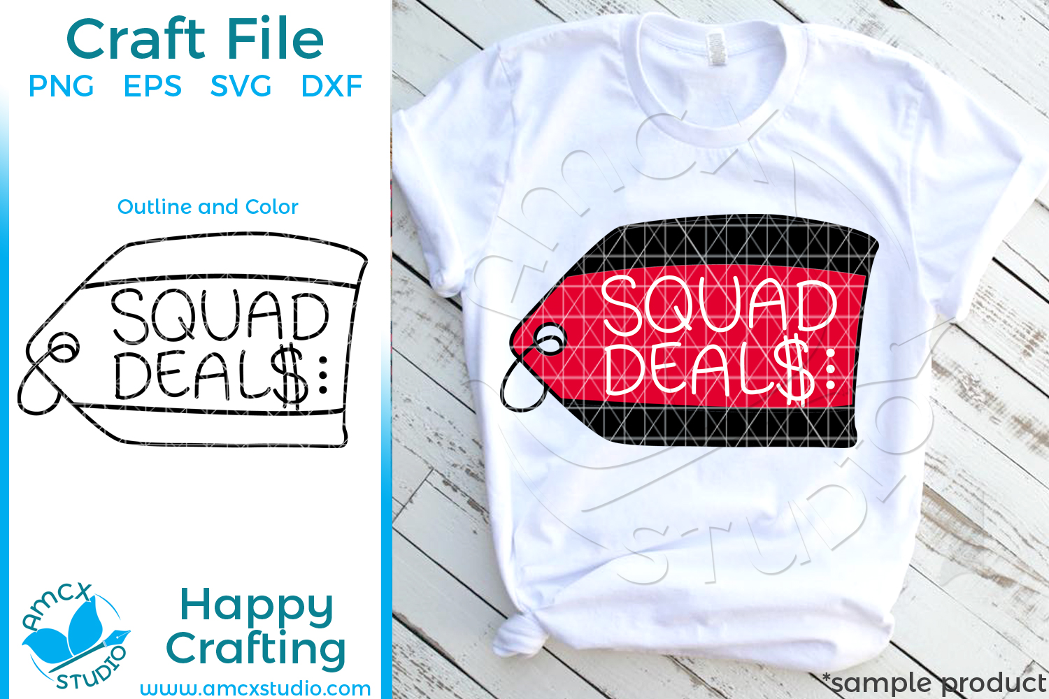 Black Friday Deal Squad svg file example image 1