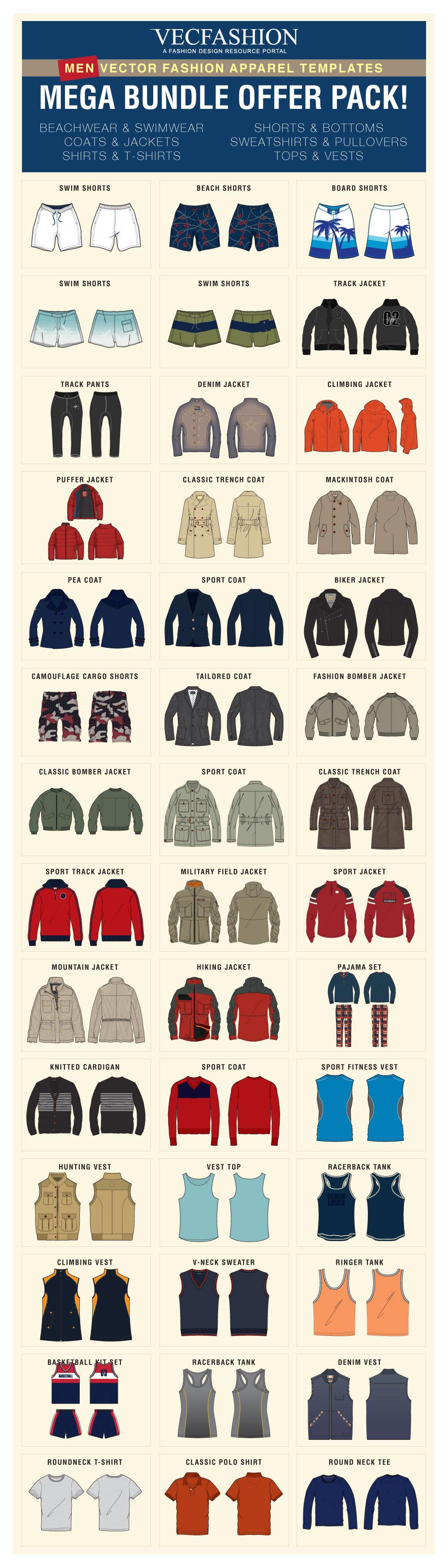 Men Fashion Templates Mega Bundle Offer Pack! example image 2