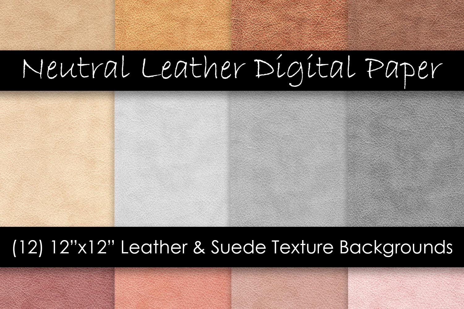 Leather/Suede Textures - Neutral Leather Digital Paper example image 1