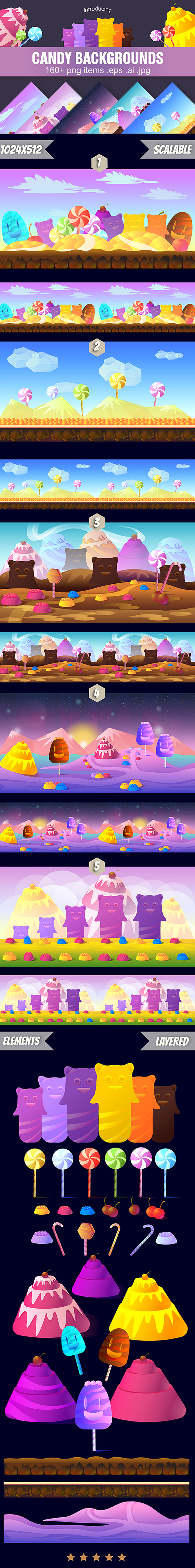 Candy Backgrounds example image 2