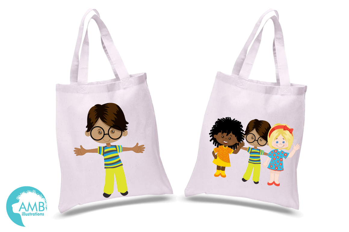Multi-cultural kids series 1, clipart, graphics and illustrations AMB-2317 example image 3