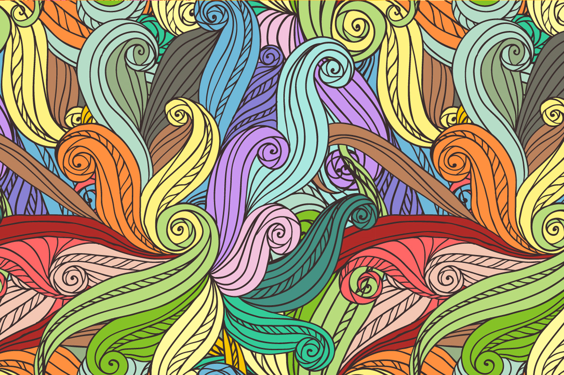 24 hand-drawn seamless patterns example image 6