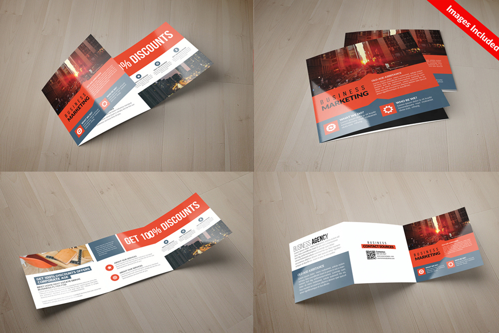 25 Square Trifold Business Brochures Bundle example image 20
