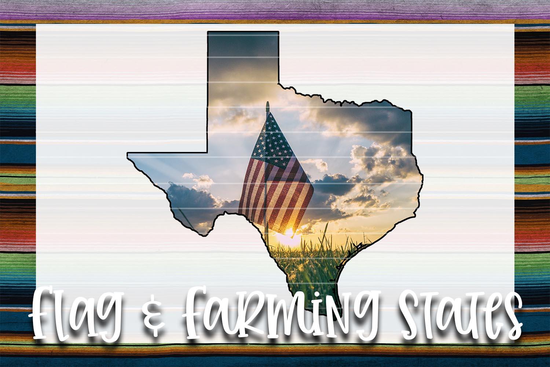 Flag & Farm TX Sublimation Digital Download example image 1