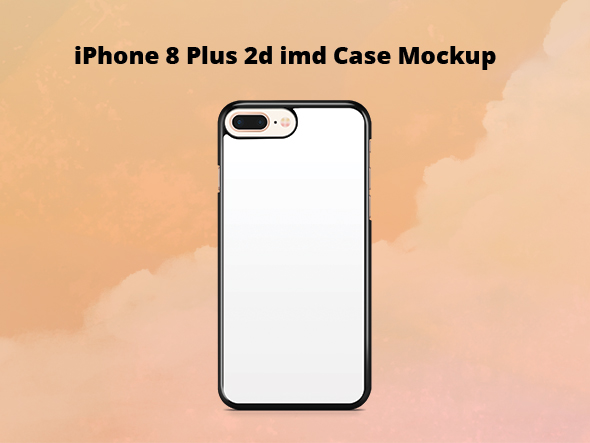 iPhone 8 Plus 2d IMD Case Mockup example image 1