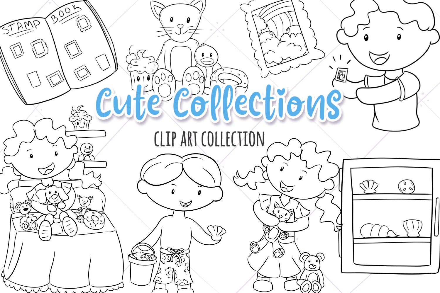 Cute Collections Digital Stamps example image 1