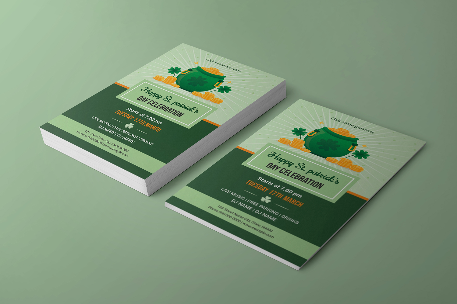 Saint Patricks Day Flyer, Ms Word & Photoshop Template example image 4