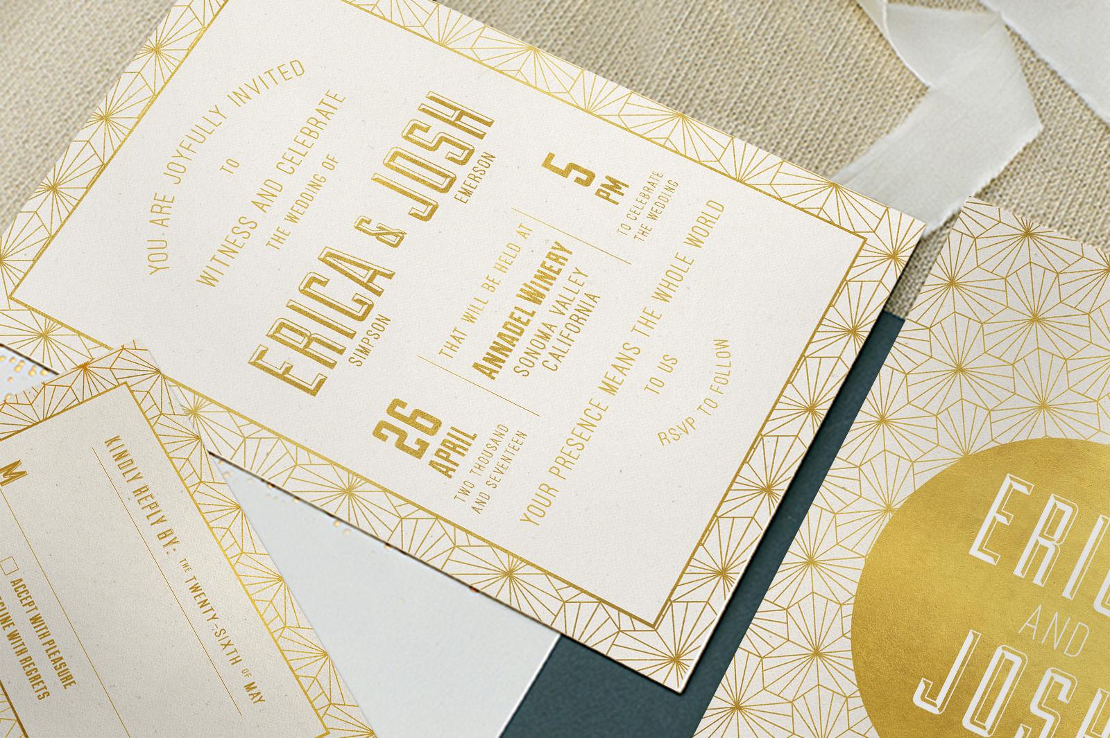 Elegant Geometric Wedding Invitation example image 2