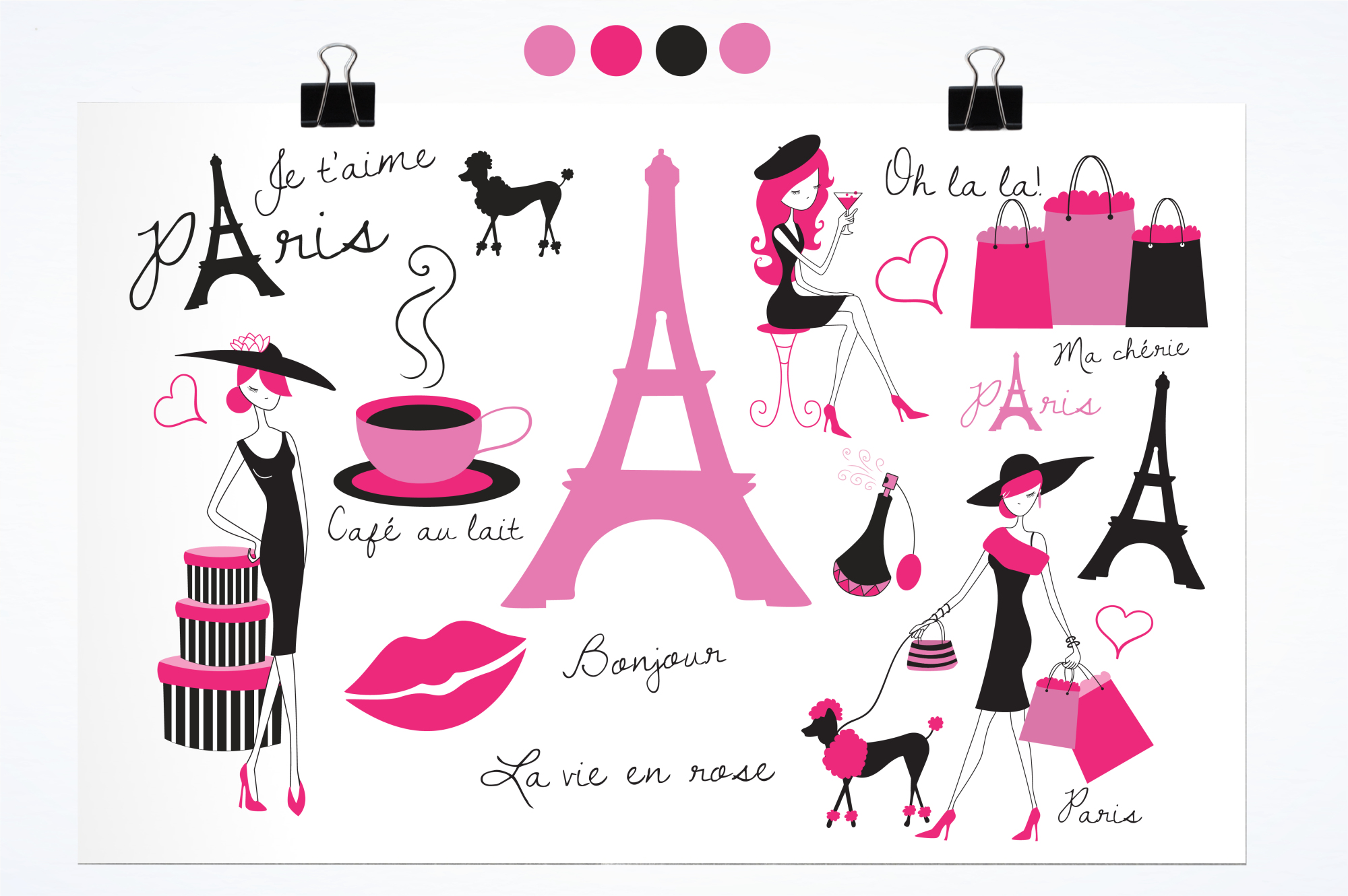 Paris Je T'Aime graphics and illustrations example image 2