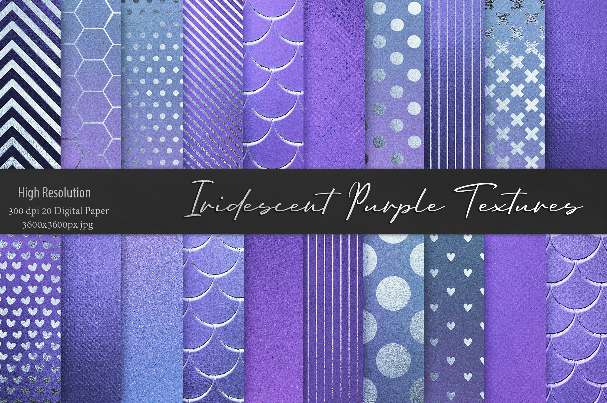 Iridescent Marble and Glitter Textures BUNDLE example image 11