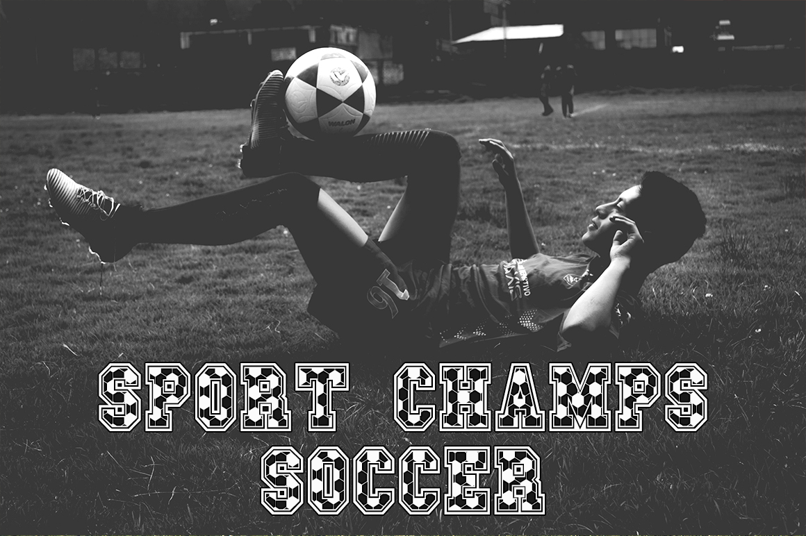 Sport Champs Soccer Font example image 1