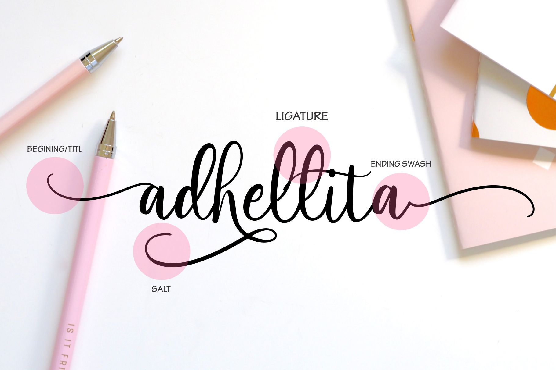 adhellita Lovely Script example image 2