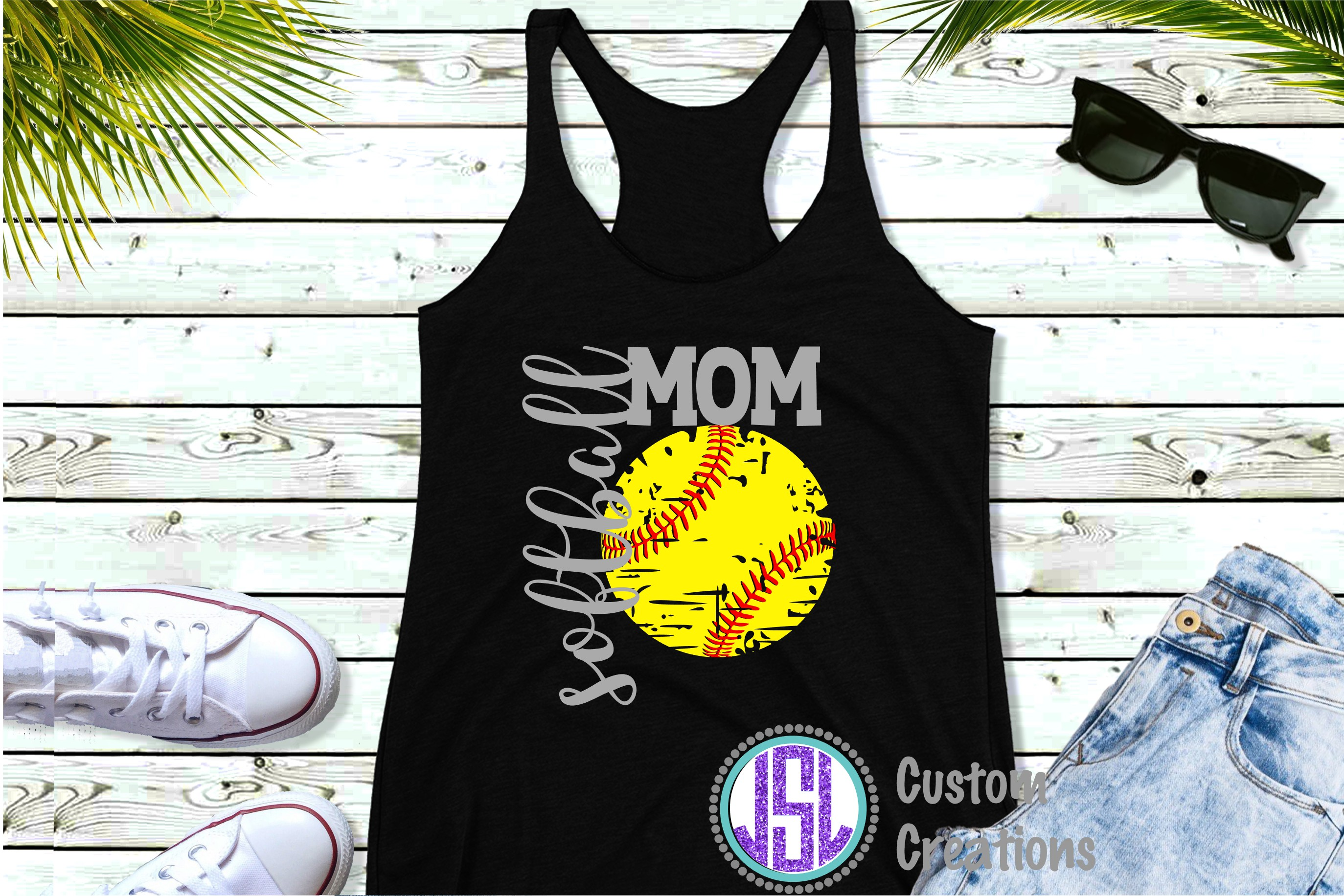 Softball Bundle Vol 2 | Set of 12|SVG DXF EPS PNG Cut Files example image 6