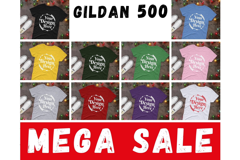 MEGA BUNDLE 68 Mockups Gildan 5000, Flat Lay Mock ups example image 7