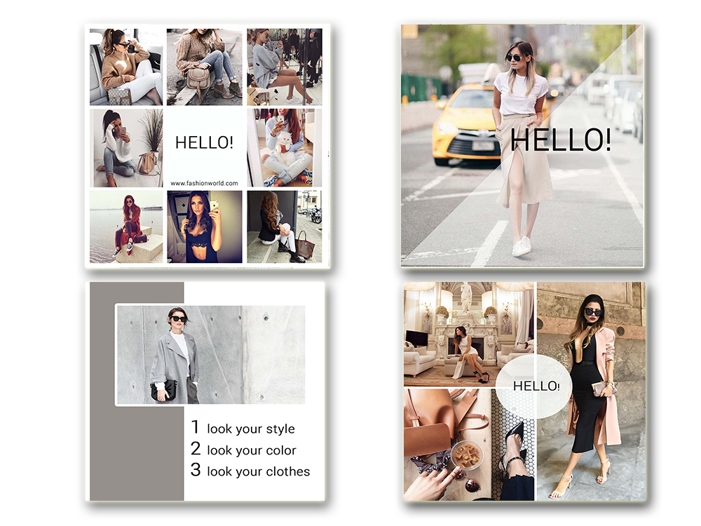 Fashion Social Media Pack, Social Media Bundle, 20 Square Social Media Templates, Instagram Template Pack, Social Media Graphics Pack example image 4