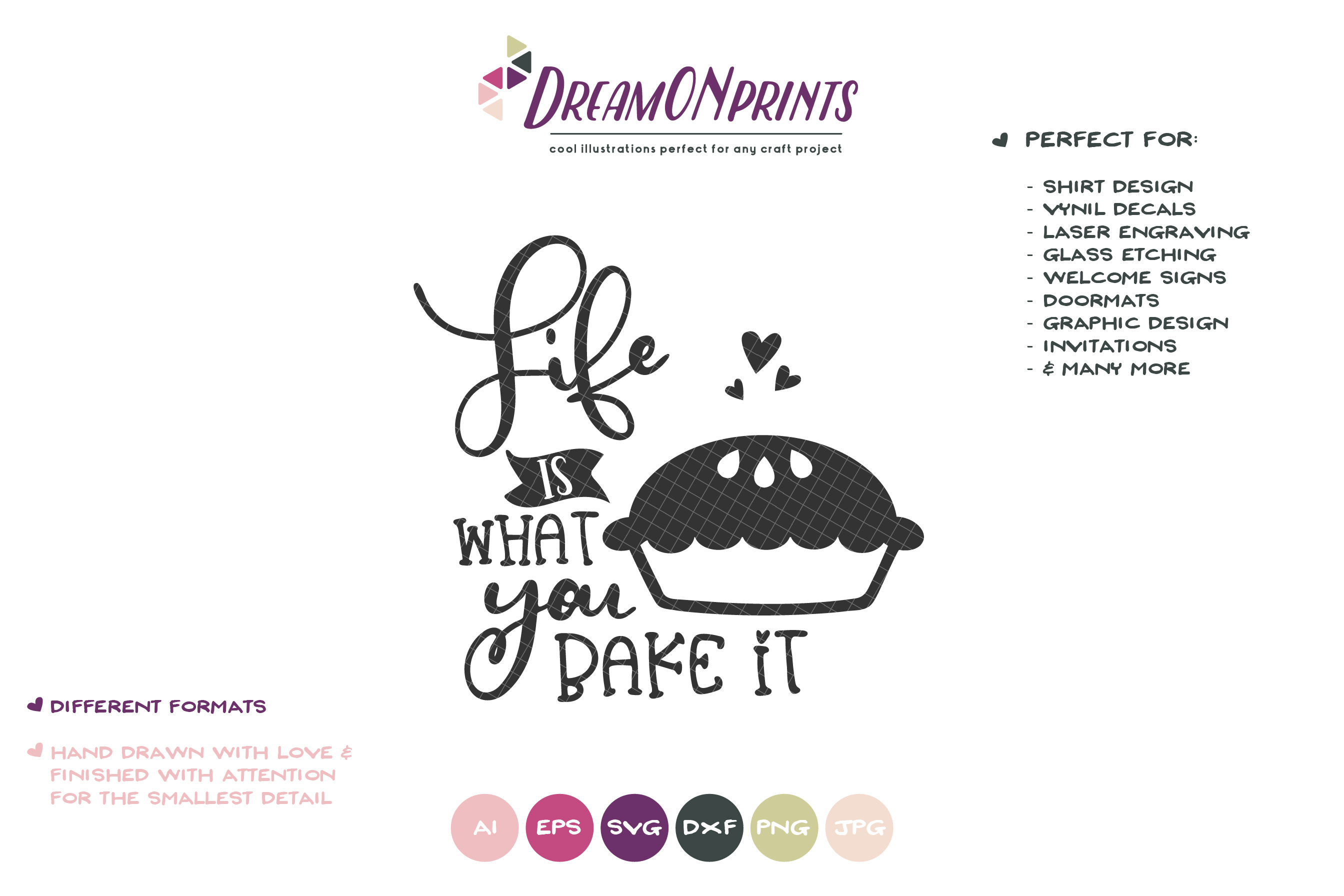 Life is What You Bake It SVG - Kitchen SVG Cut Files example image 2