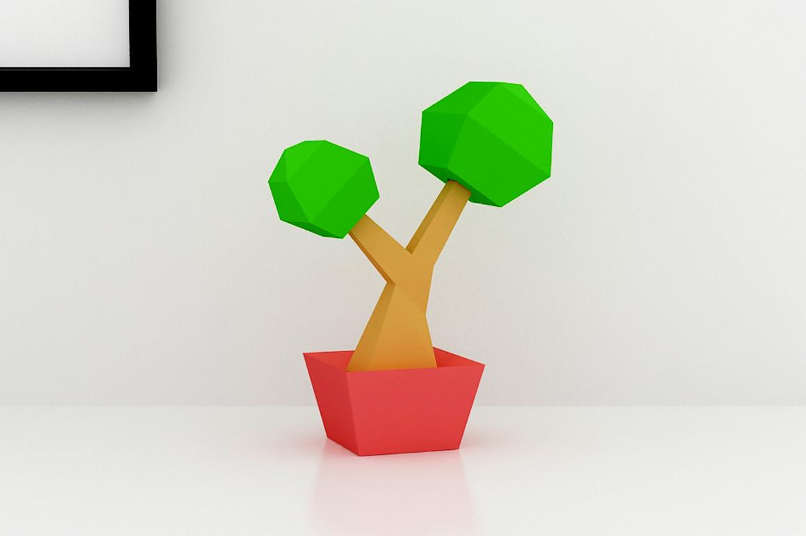 DIY Bonsai Tree - 3d papercraft example image 1