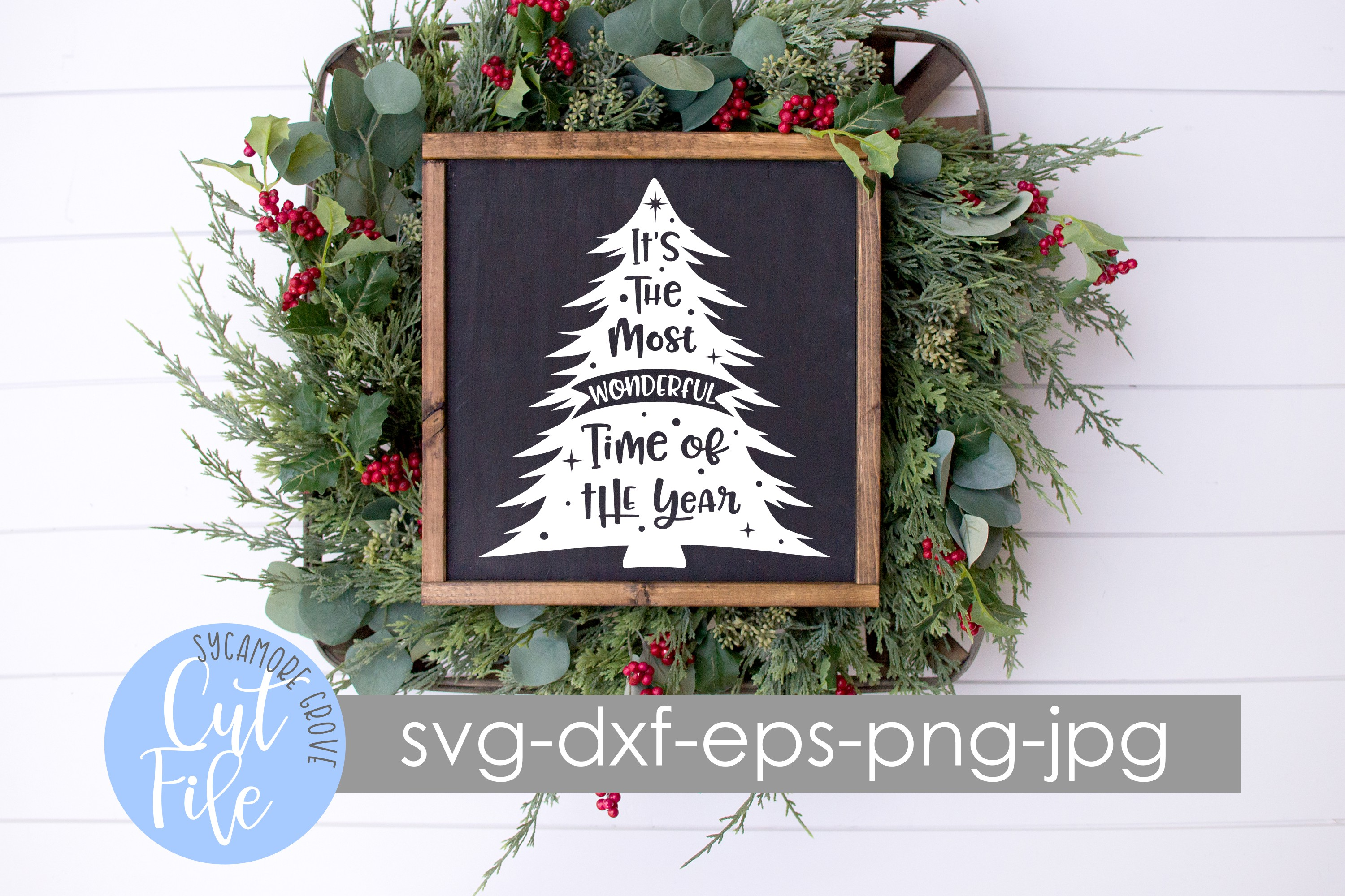 It's The Most Wonderful Time Of The Year | Christmas SVG example image 5