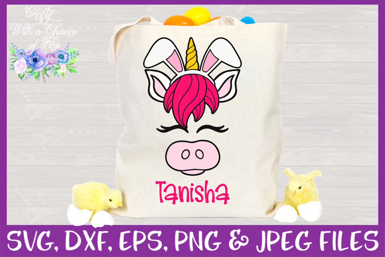 Easter   Unicorn Face SVG Cut File example image 2