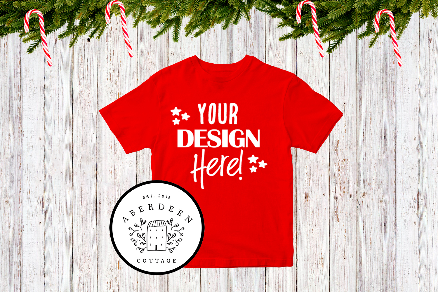 Children's Christmas T-Shirt Mock Up Mini Bundle example image 7