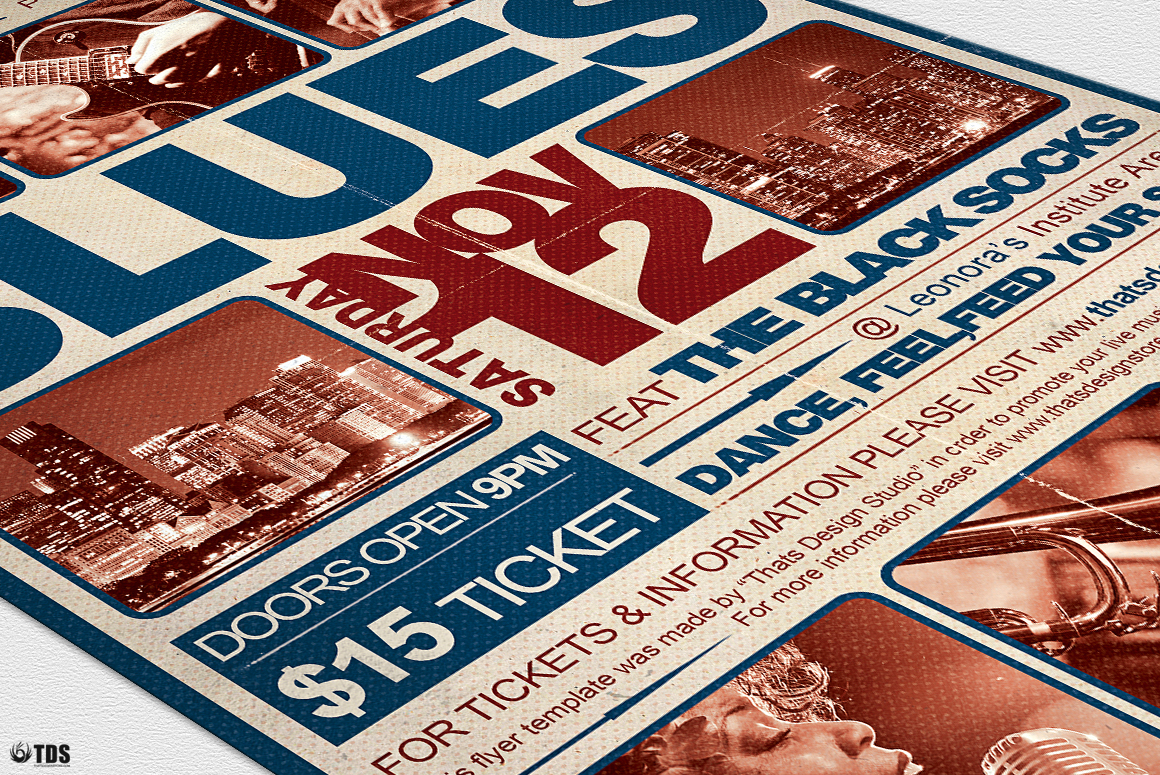 Blues Festival Flyer Template V2 example image 6