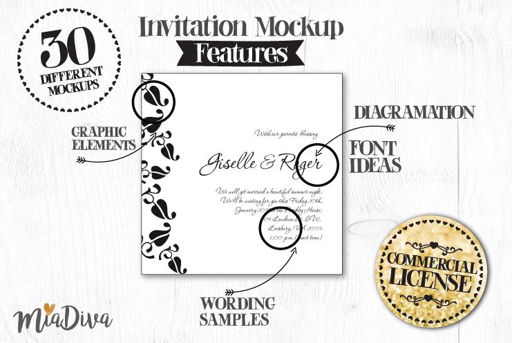 Wedding invitations layout pack example image 3