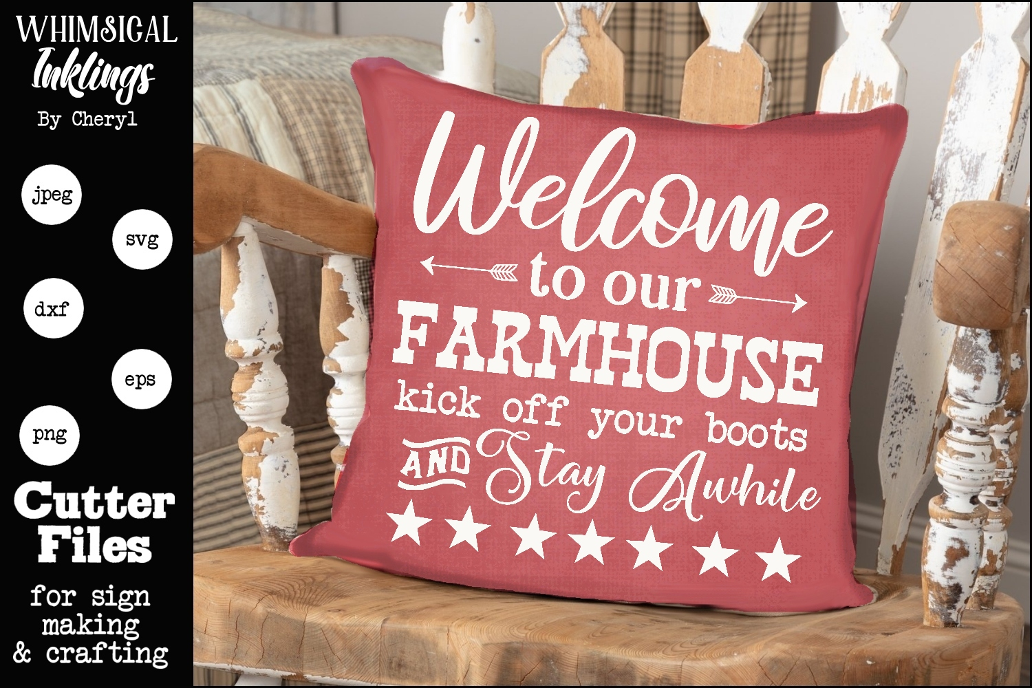 Stay Awhile-Farmhouse SVG example image 1