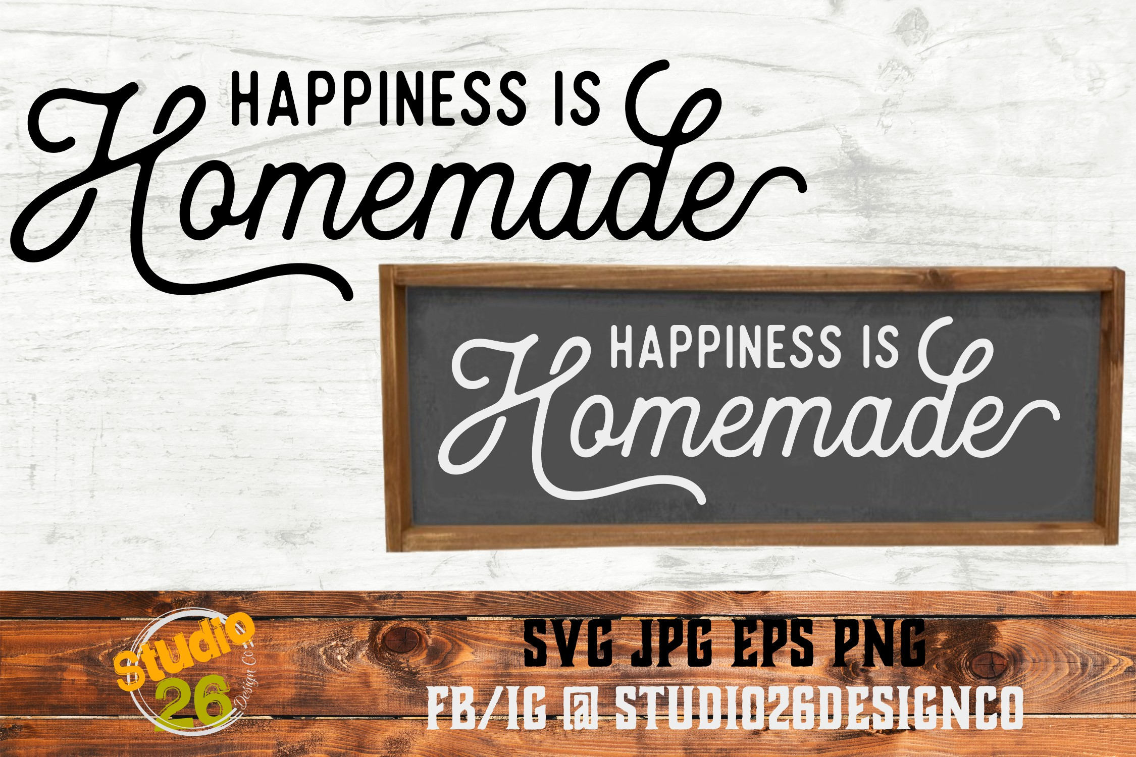 graphic regarding Happiness is Homemade identified as Joy is do-it-yourself - SVG PNG EPS