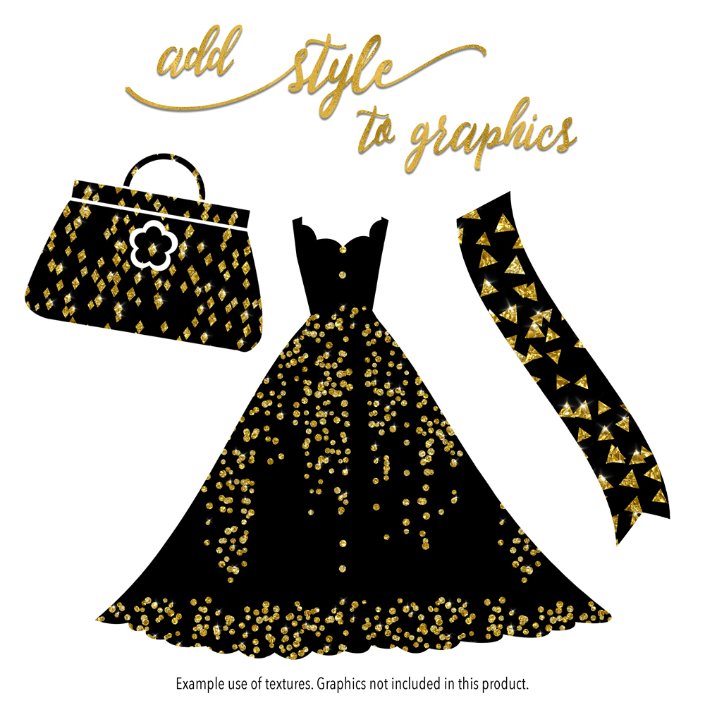 Sparkly Gold Confetti example image 5