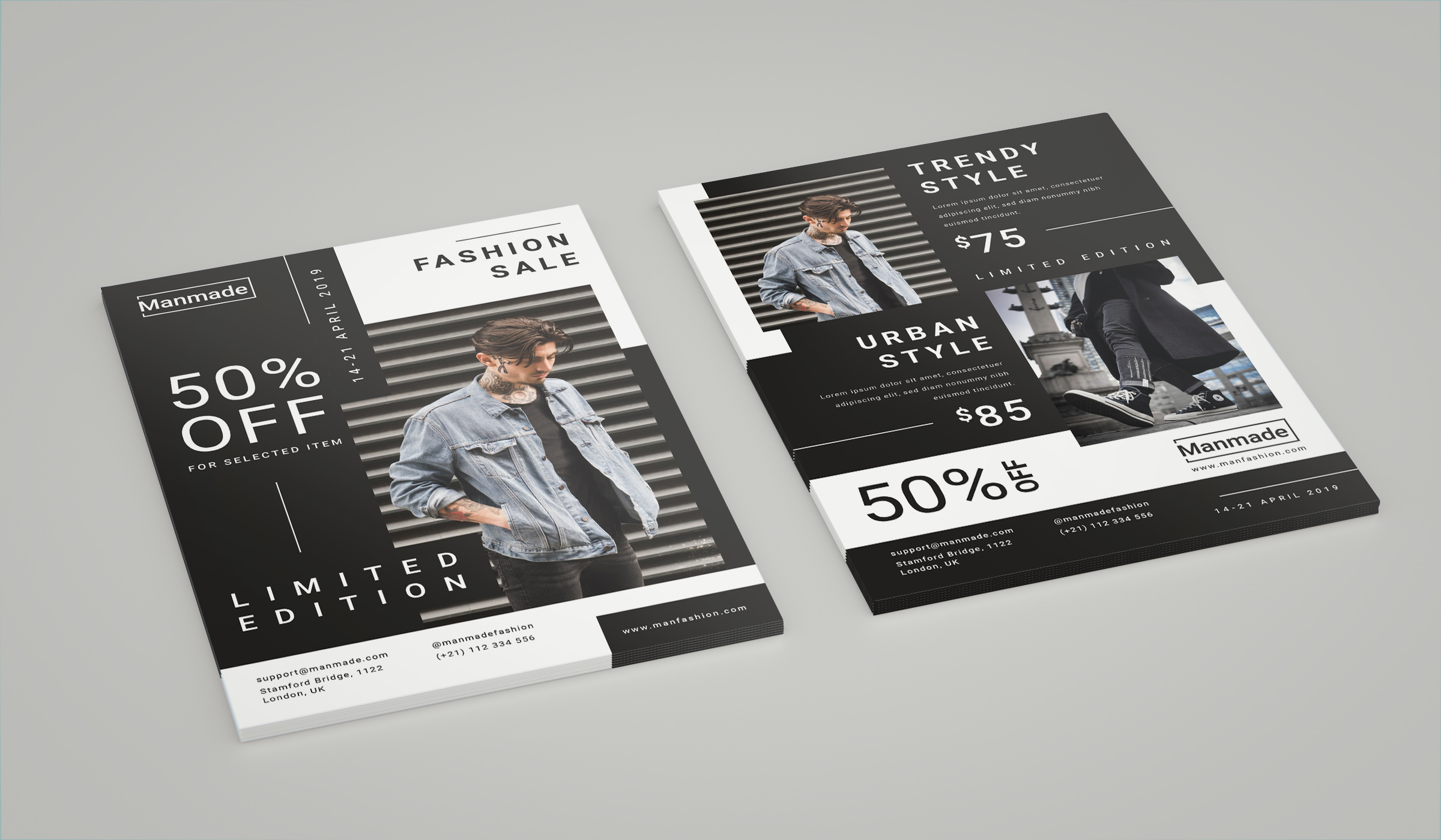Man Made - Fashion Flyer example image 2