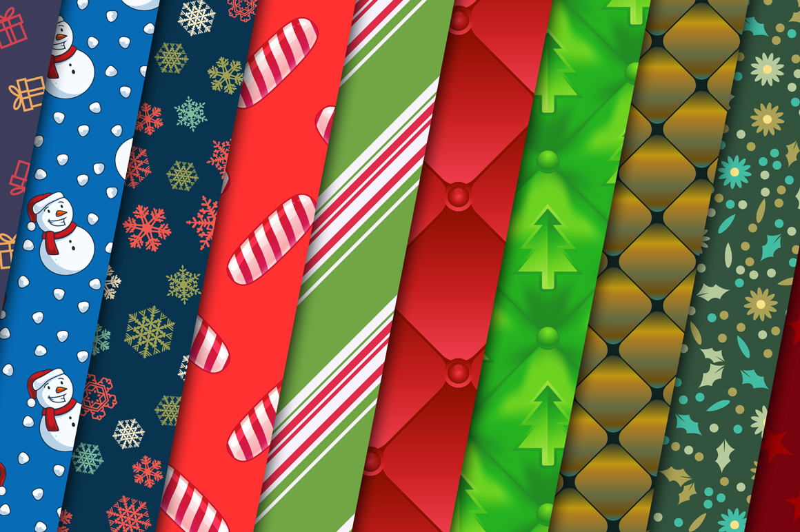 100 Christmas Seamless Patterns example image 13