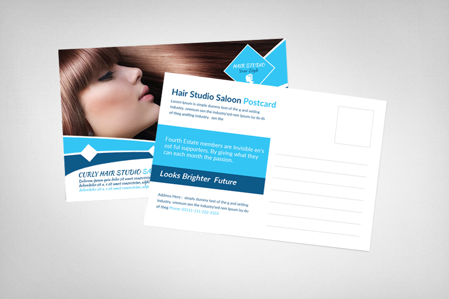 Hair Saloon Postcard Template example image 2