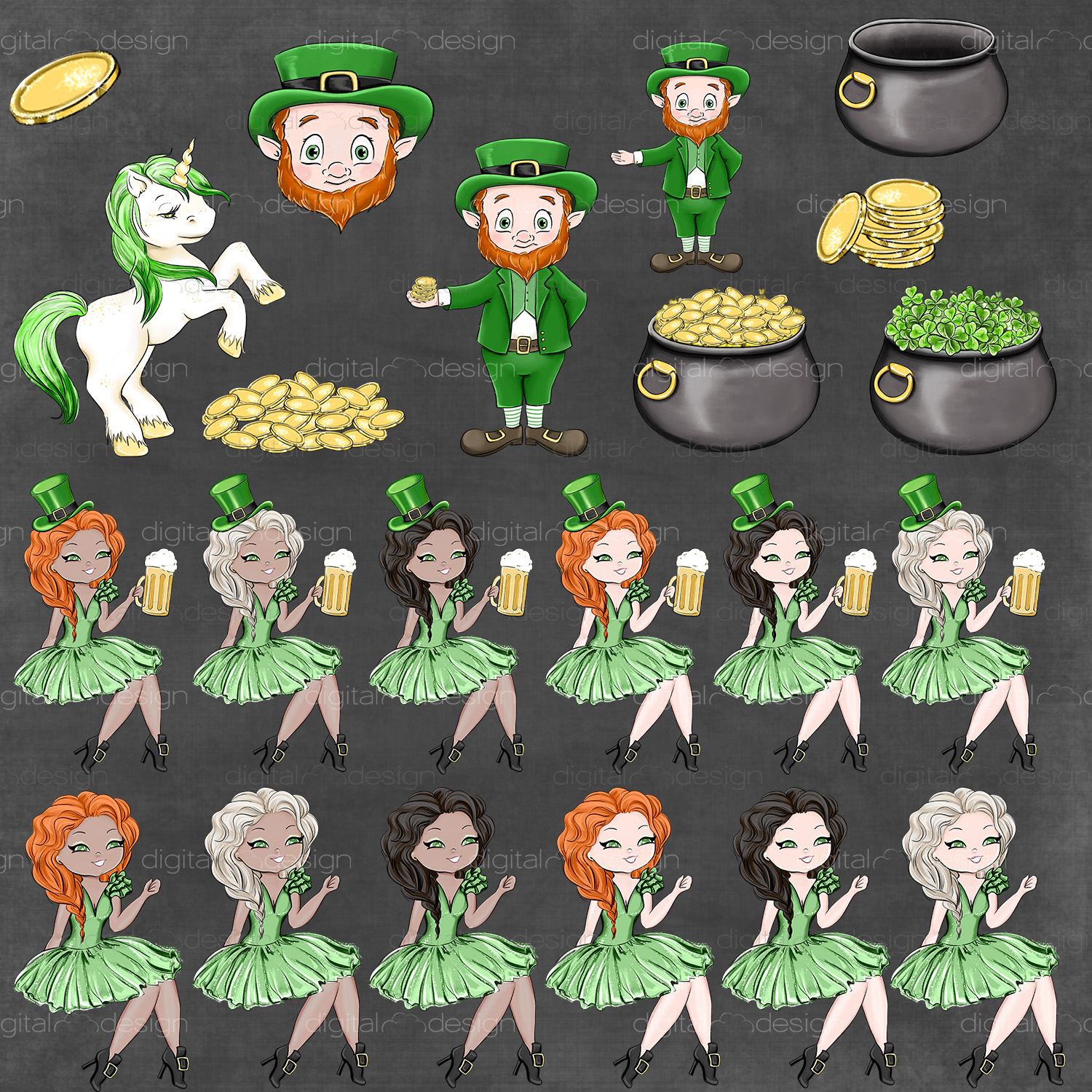 Its Your Lucky Day - Clipart example image 3