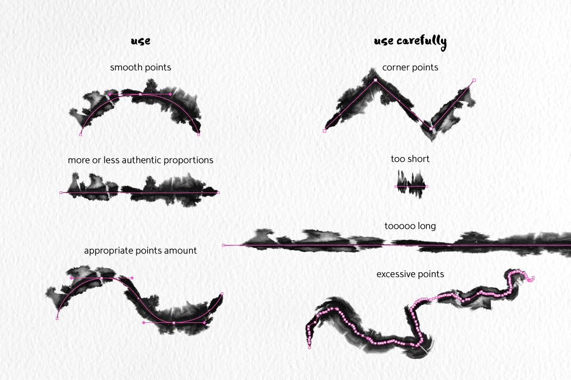 Runny Ink Brushes for Illustrator example image 3