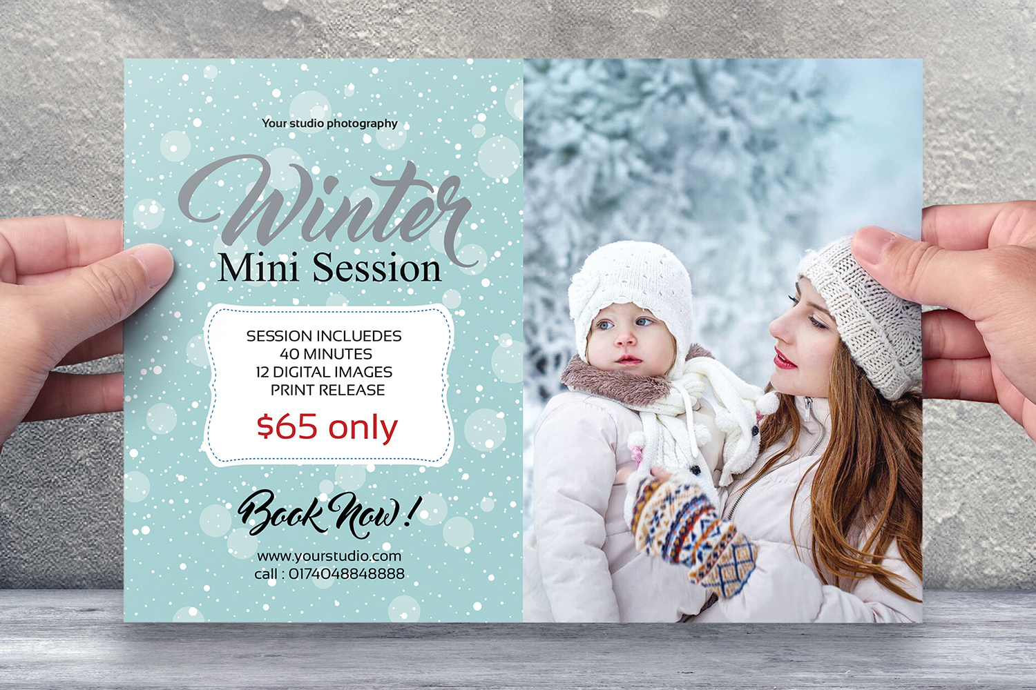 Winter Mini Session Template example image 1