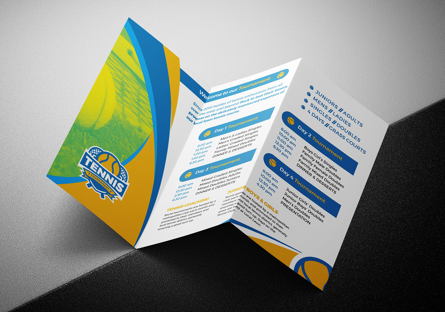 Tennis Tri-Fold Brochure Template example image 5