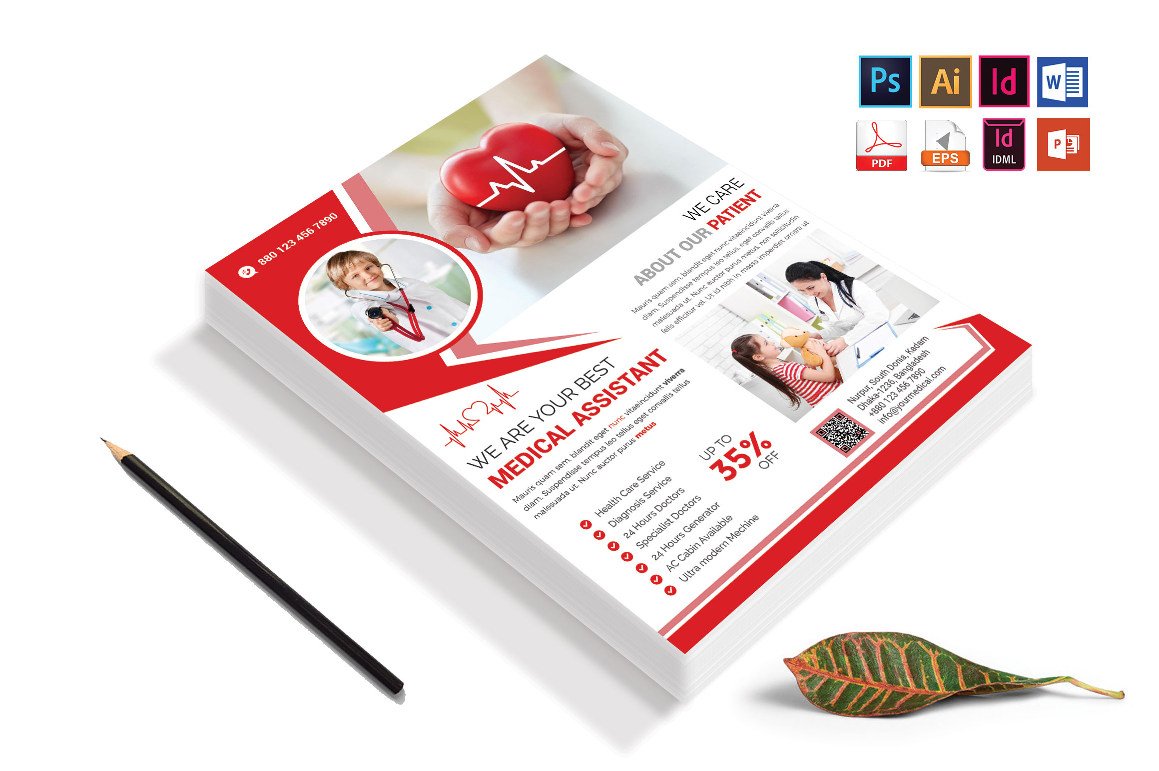 Doctor & Medical Flyer. Vol-09 example image 1