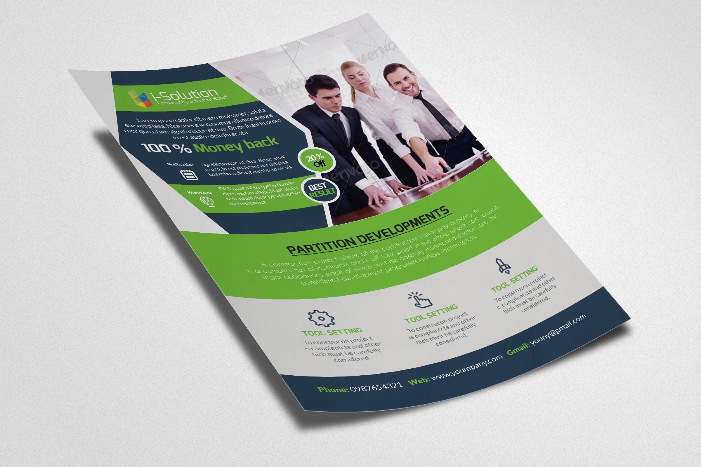 Business Marketing Management Flyers example image 3