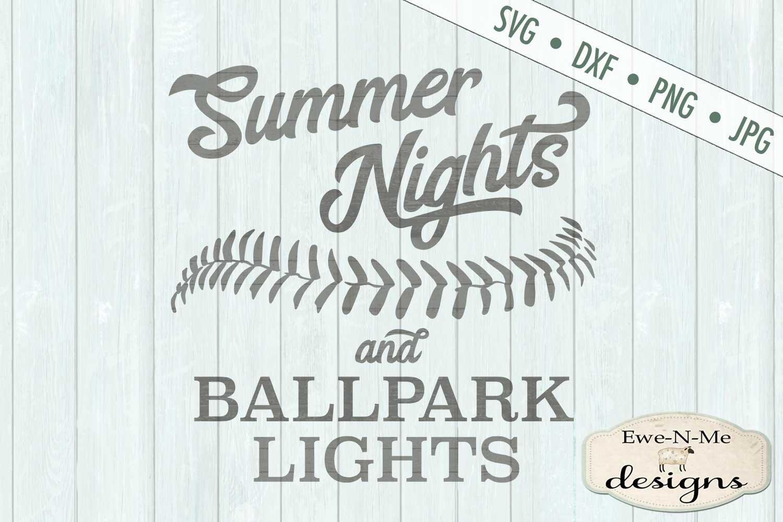 Summer Nights Ballpark Lights Baseball Softball SVG DXF File example image 2