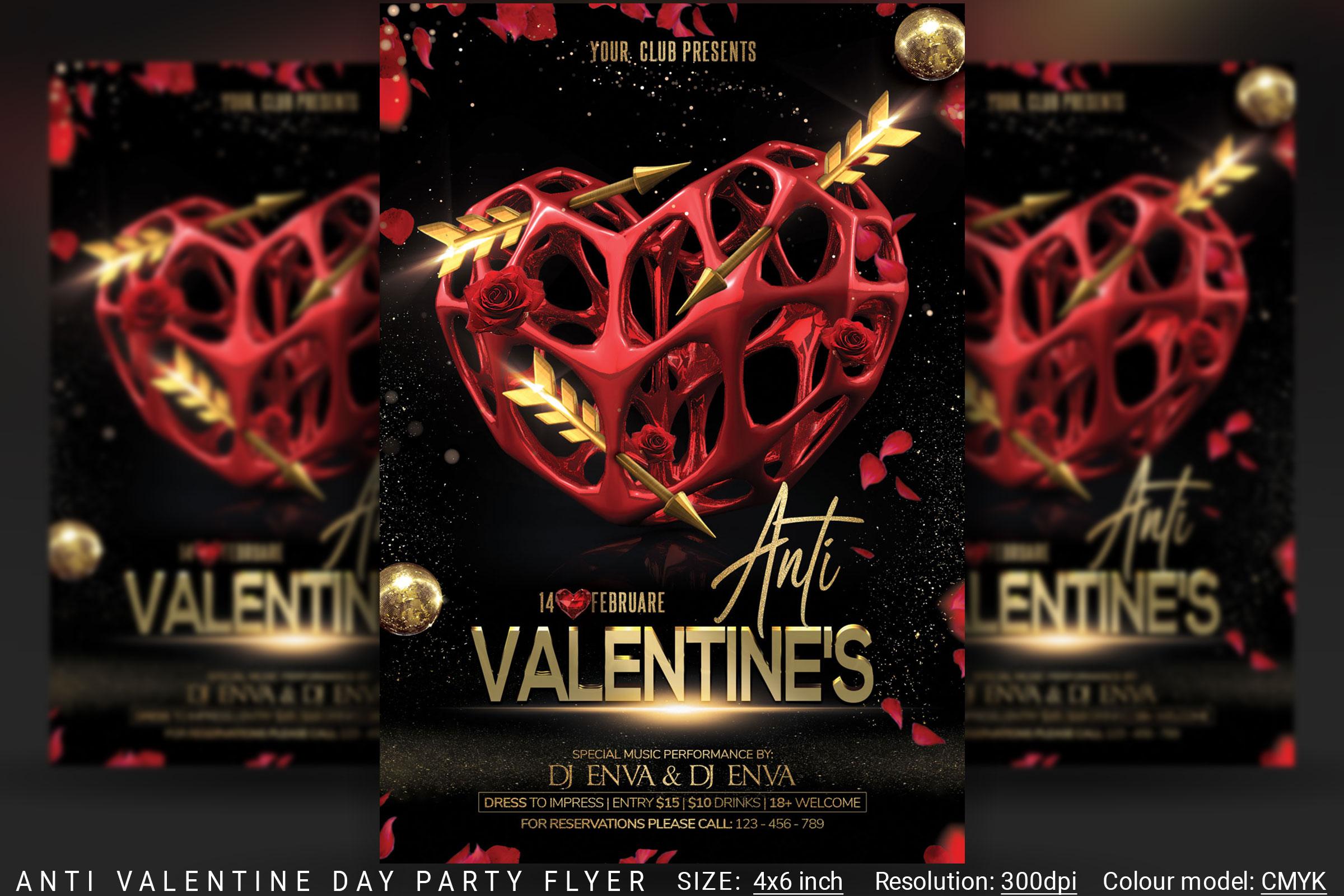 Anti Valentine Day Flyer example image 1