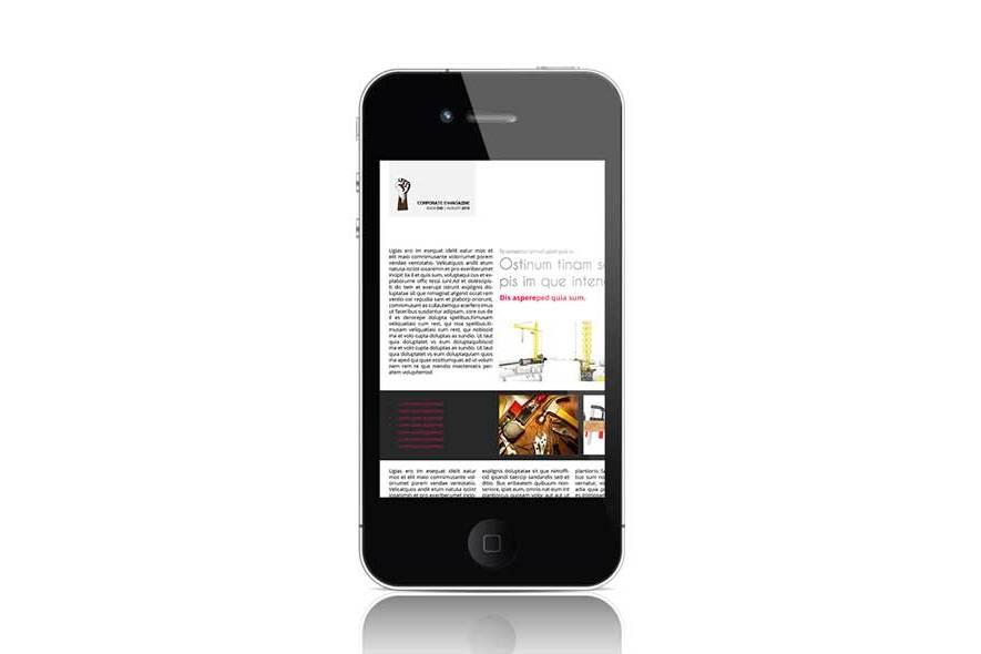 Corporate eMagazine Template example image 3