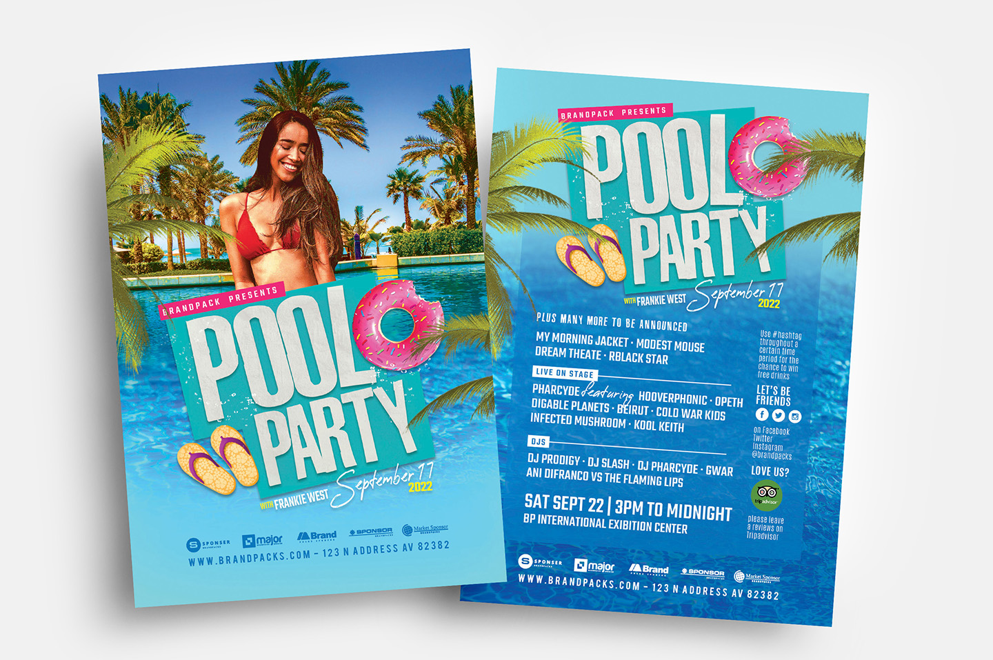 Pool Party Flyer Template example image 1