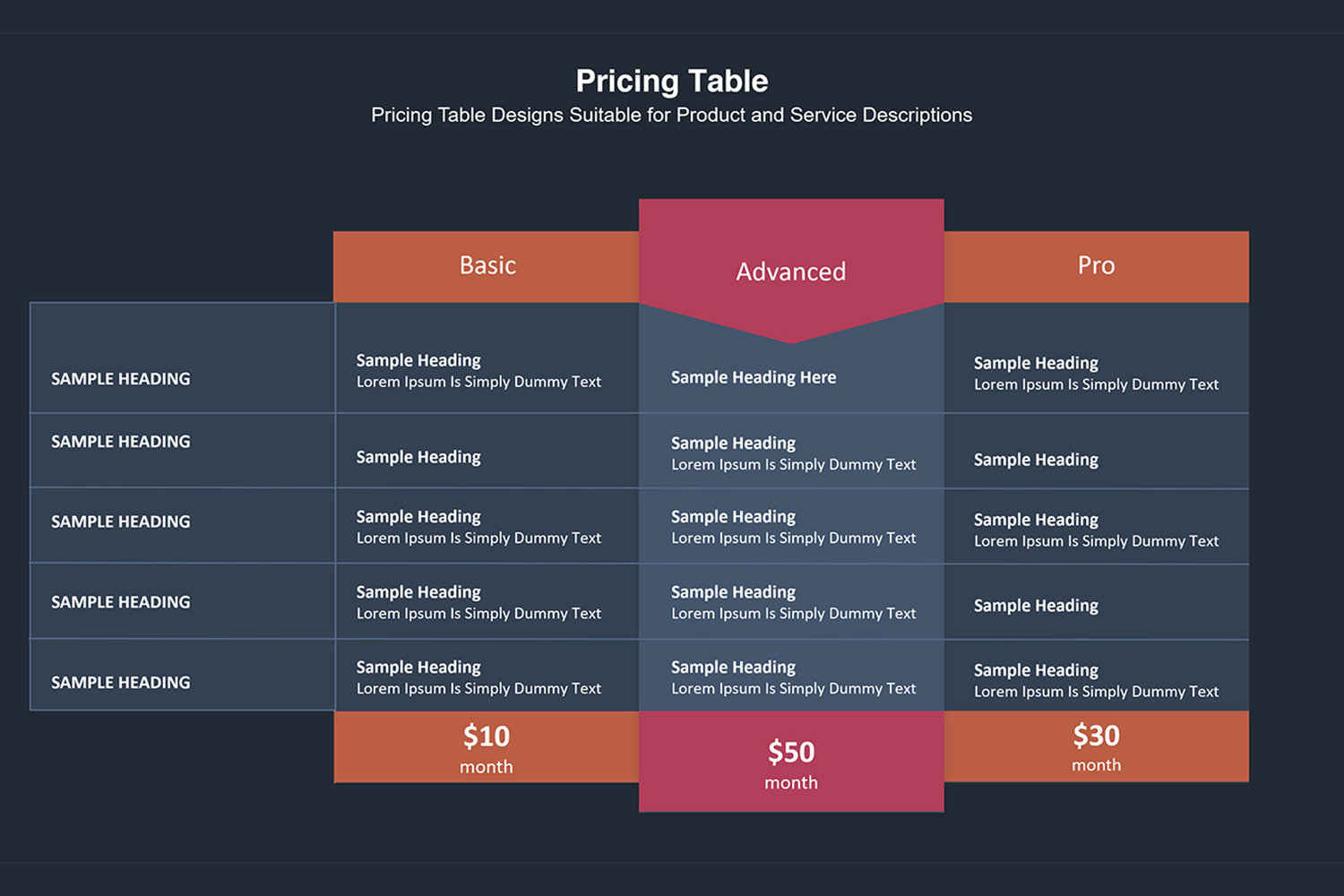 Price Table  Infographic Presentation example image 16