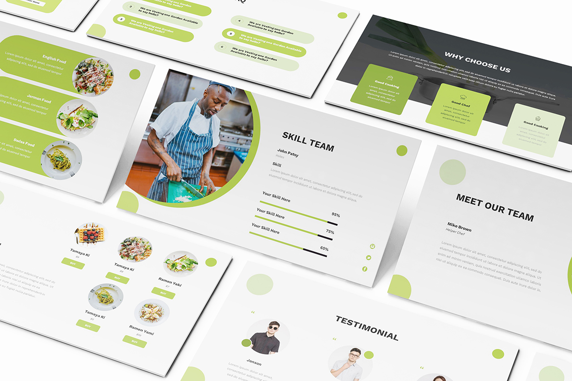 Food Powerpoint Template example image 8