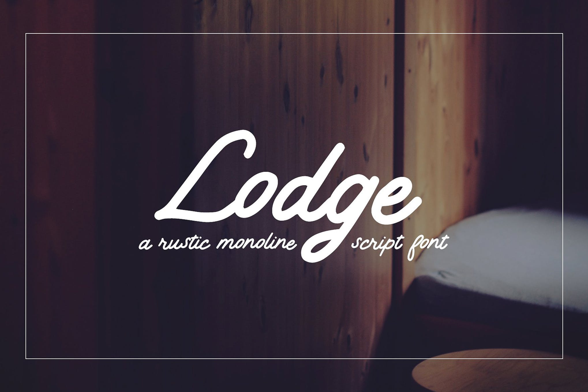 Lodge | A Rustic Script example image 1